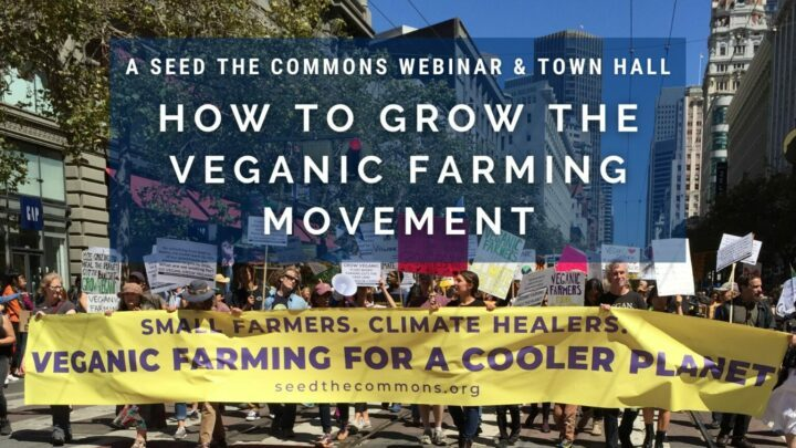 12 mars, de 18h30 à 21h30, webinaire : Comment développer le mouvement de l'agriculture végétalienne (Seed the Commons)